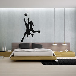 Kakshyaachitra Ladies Basketball Players Wall Stickers For Bedroom And Living Room, 24 31 inches