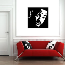 Kakshyaachitra Will Smith Wall Stickers For Bedroom And Living Room, 24 24 inches