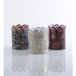 Aasra Decor Circular Petal Candle Votive DecorVotives, multicolour