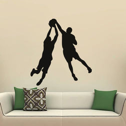 Kakshyaachitra Two Person Game Wall Stickers For Bedroom And Living Room, 22 24 inches