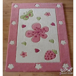 Floor Carpet and Rugs Hand Tufted, AC Concept Kids Pink Carpets Online - KD-99-L, 3ftx5ft, pink
