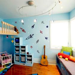 Wall Stickers For Kids Design Rocket Sapce Kids Decor WDV06022