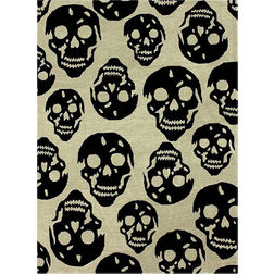 Floor Carpet and Rugs Hand Tufted AC Concept Kids Black Carpets Online - A1-42-L, 3ftx5ft, black