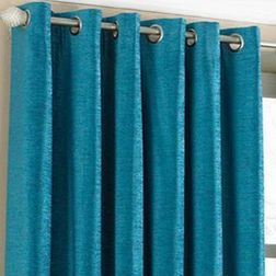 Shiva Solid Readymade Curtain - SJ721, window, blue