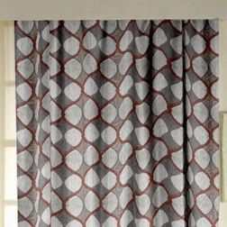 Zoya Geometric Readymade Curtain - FN709, grey, window