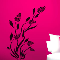 Kakshyaachitra Grass Flower Wall Stickers For Bedroom And Living Room, 35 48 inches