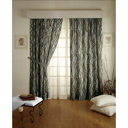 Raindrop Geometric Readymade Curtain - 1, door, grey