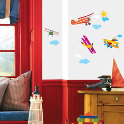 Wall Stickers For Kids TC Aeroplanes DS08223