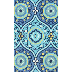 Floor Carpet and Rugs Hand Tufted, The Rug Concept Blue Carpets Online Tbilisi 6036-L, blue, 3ft x 5ft