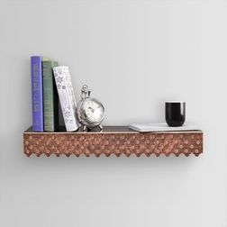 Aasra Decor Elegant Dotted Wall Shelve Decor Wall Shelve, multicolor