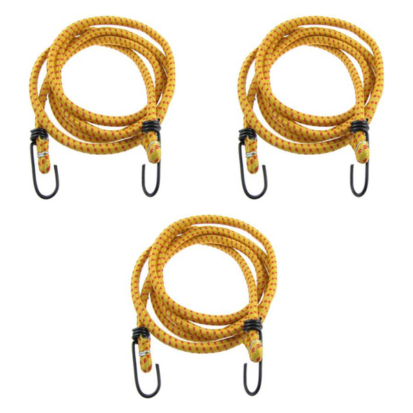 Hua You Elastic Bungee Cord Cables, Luggage Tying Vehicle Ropes 2.5 metres x 10 mm (Multicolor) Bungee Cord (250 cm)