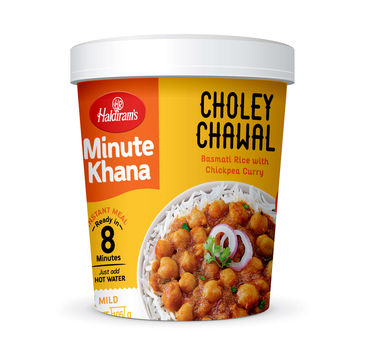 Choley Chawal (Serves 1) 105g, Haldirams Minute Khana, Ready to eat
