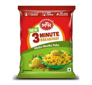 MTR Khatta Meetha Poha Pouch (Serves 1)
