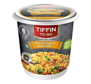 Vegetable Biryani (Serves 1) 87g, Ready to eat meal, Tiffin to Go