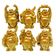 De Vedic Feng Shui Chinese Happy Man / Laughing Buddha - 6 different Poses Set Figurine Golden Statue Showpiece - 5 cm