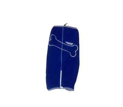 Zorba Designer Winter Fleece Jacket for Toy Breed Dogs, blue, 10 inch