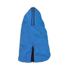 Canes Venatici Double Protection Premium Raincoat for Small Dogs, blue, 16 inch