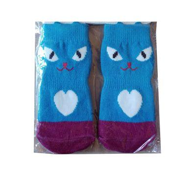 Wan Talk Anti Slip Socks for Large Dogs, blue face, 2xl