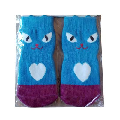 Wan Talk Anti Slip Socks for Large Dogs, blue face, 2xl