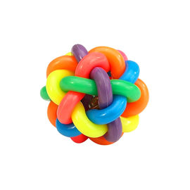 Multi Colour Musical Ball Pet Toy, medium, 3 inch