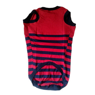 Zorba Designer Striped Tshirt for Toy Breed Dogs, 10 inch, red
