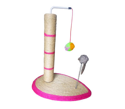 Canine Sisal Cat Scratching Post, pink