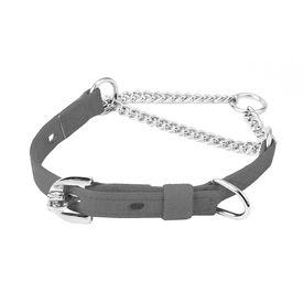 Kennel Furlon Choke Dog Collar with Thin Chain for Medium Dogs, 15 inch, black