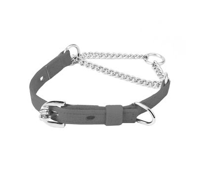 Kennel Furlon Choke Dog Collar with Thin Chain for Medium Dogs, 15 inch, black