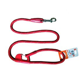 Nunbell Double Lock Thick Nylon Rope Tying Lead for all Dogs, red, 48 inch