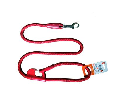 Nunbell Double Lock Thick Nylon Rope Tying Lead for Dogs, red, 48 inch