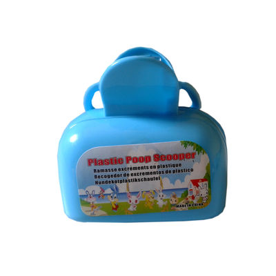 Plastic Box Shaped Poop Scooper for Pets, blue