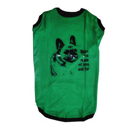 Zorba Designer Printed Jersey Tshirt for Large Breed Dogs, green, 26 inch