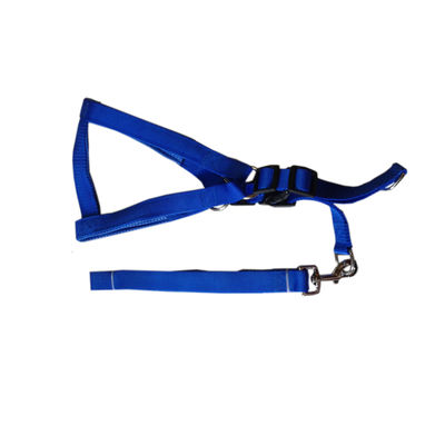 Canine Nylon Padded Body Harness Set for Large Dogs, red