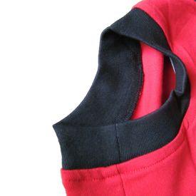 Zorba Designer Striped Tshirt for Medium Dogs, red, 22 inch