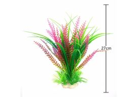 Imported PVC Artificial Plant Aquarium Decor, green