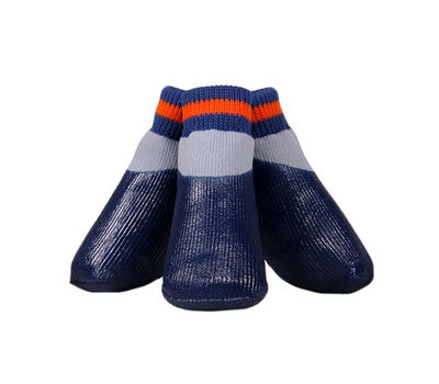 Puppy Love Neon Anti-Slip Waterproof Sock Shoes for Medium to Large Breed Dogs, large, neon orange