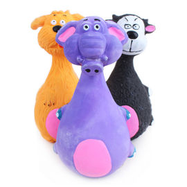 Canine Latex Squeaky Pet Toy, purple elephant