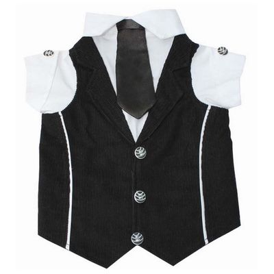 Zorba Party Tuxedo Suit for Large Breed Dogs, black & white, 26 inch