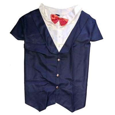 Canes Venatici Premium Party Tuxedo Suit for Dogs, dark navy blue, 18 inch