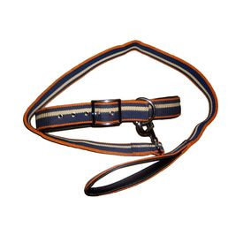 Nunbell Thick Canvas with PU Leather Collar & Lead Set for Large to Giant Dogs, 64 inch