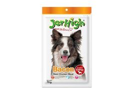 JerHigh Bacon Real Chicken Meat Dog Treat, 70 gms