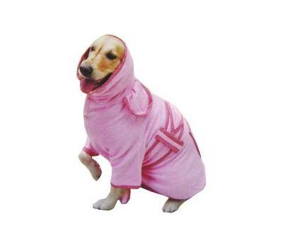 Zorba Designer Bathrobe for Large Dogs, pink, 30 inch