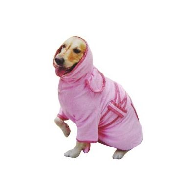 Zorba Designer Bathrobe for Large Dogs, blue, 28 inch