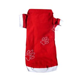 Zorba Designer High Quality Embroidered Tshirt for Toy Breed Dogs, red, 10 inch