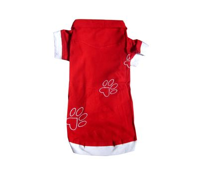 Zorba Designer High Quality Embroidered Tshirt for Small Dogs, red, 16 inch