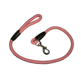 Super Dog Thick Knitted Rope Lead for Medium to Large Dogs, bright red