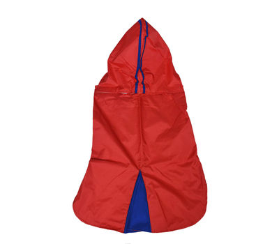 Canes Venatici Double Protection Premium Raincoat for Medium Dogs, red, 20 inch