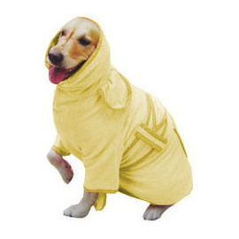 Zorba Designer Bathrobe for Medium Dogs, yellow, 24 inch