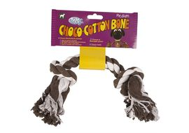 Pet Brands Choco Cotton Bone, coffee brown