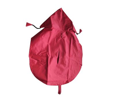 Premium Nylon Raincoat for Small Dogs, 18 inch, red